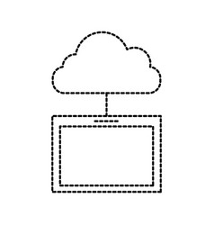 cloud computing tablet technology system vector image
