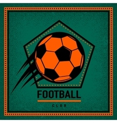 Color vintage and retro logo badge label football vector image vector image