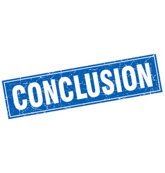Conclusion square stamp vector