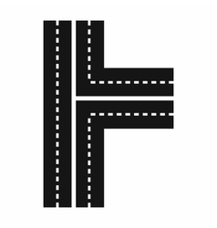 Crossroads icon in simple style vector
