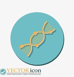 Dna helix medical research character vector
