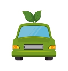 Eco car isolated icon vector