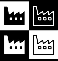 Factory sign black and white vector
