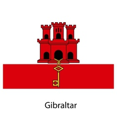 Flag of the country gibraltar vector