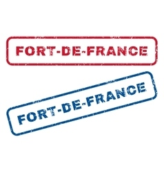 Fort-de-france rubber stamps vector