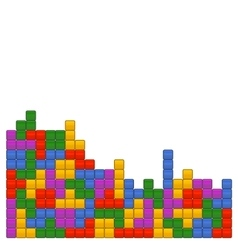 Game Brick Tetris Template on White Background vector image vector image