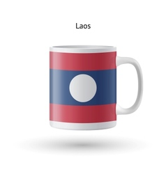 Laos flag souvenir mug on white background vector
