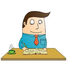 Man writing book vector