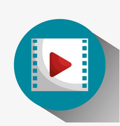 Media film tape icon vector