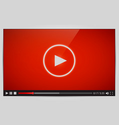 Modern video player for web vector