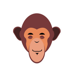 monkey sleeping emoji marmoset asleep emotion vector image vector image