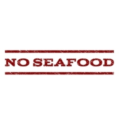 No seafood watermark stamp vector