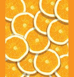 orange fruit pattern vector image