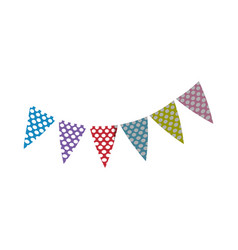 pennants decoration party vector image