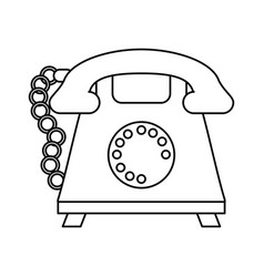 Rotary phone icon image vector