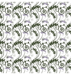 Seamless green floral pattern with vetch vector image vector image