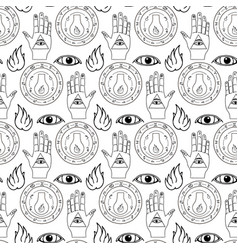 Seamless pattern all seeing eye vector