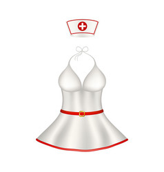sexy nurse uniform vector image vector image