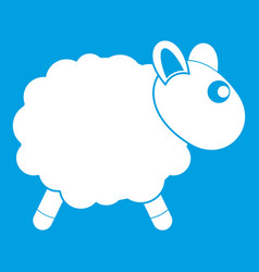 Sheep icon white vector