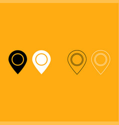 sign location it is white icon vector image vector image