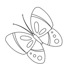 Spring butterfly easter single icon in outline vector