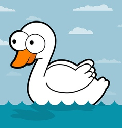 Swan cartoon vector