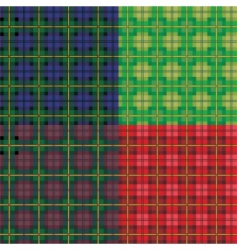 tartan seamless patterns vector image
