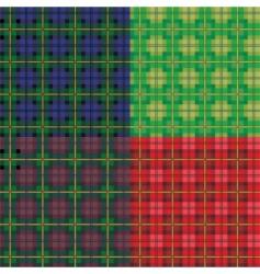 tartan seamless patterns vector image vector image