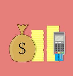 Terminal credit card vector