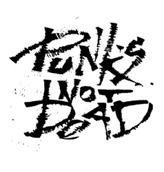 Panks not dead cola pen calligraphy font vector