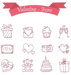 Icon of valentine day vector