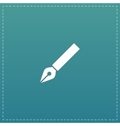 Fountain pen icon vector