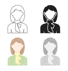 Woman icon cartoon single avatarpeaople icon vector