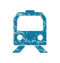 Grunge train icon vector