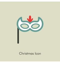Christmas festive mask icon vector