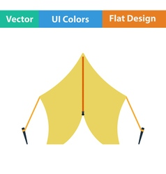 Flat design icon of touristic tent vector