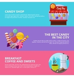 Sweet Candy Banners vector image