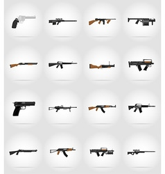 Weapon flat icons 17 vector