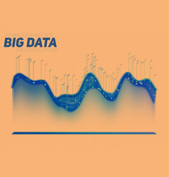 Abstract colorful big data vector