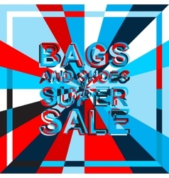 Big ice sale poster with bags and shoes super sale vector