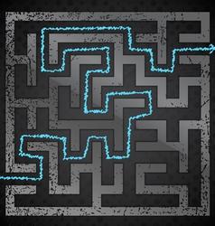 Black maze vector image vector image