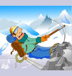 bold climber vector image vector image