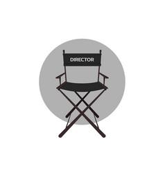 Cinema directors chair vector