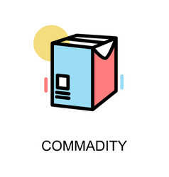 commadity icon and document box on white vector image vector image