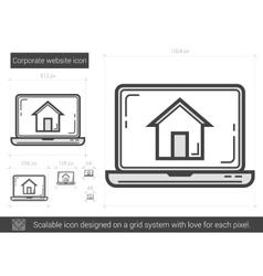 Corporate website line icon vector