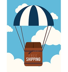 Delivery over cloudscape background vector