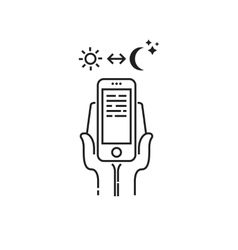 Dependence on smartphone icon vector
