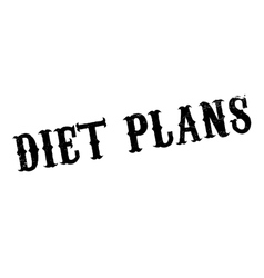 Diet Plans rubber stamp vector image vector image