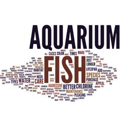 Efficient care requirements for aquarium fish vector