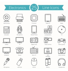Electronics Line Icons vector image vector image
